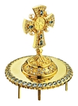 Jewelry mitre cross - A472 (gold-gilding)