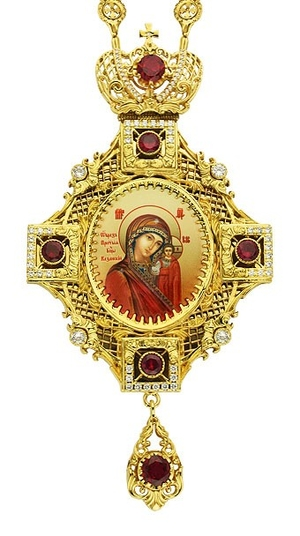 Jewelry Bishop panagia (encolpion) - A127-35 (gold-gilding)