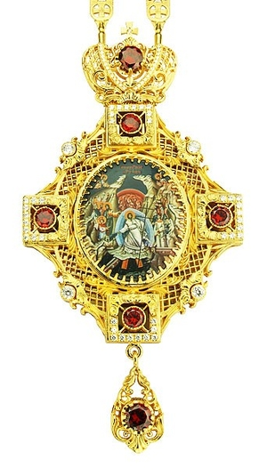 Jewelry Bishop panagia (encolpion) - A127-39 (gold-gilding)