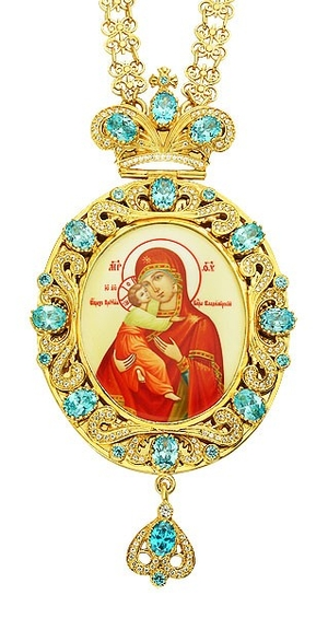 Jewelry Bishop panagia (encolpion) - A167 (gold-gilding)