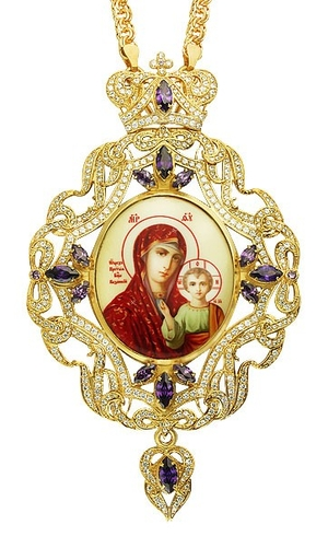 Jewelry Bishop panagia (encolpion) - A306 (gold-gilding)