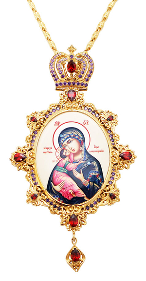 Jewelry Bishop panagia (encolpion) - A462 (gold-gilding)