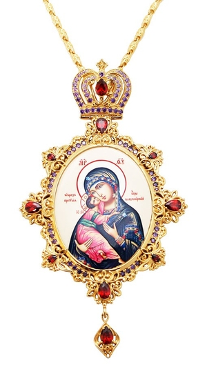 Jewelry Bishop panagia (encolpion) - A462-2 (gold-gilding)