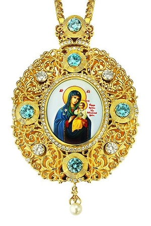 Jewelry Bishop panagia (encolpion) - A494 (gold-gilding)