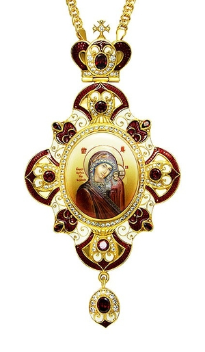 Jewelry Bishop panagia (encolpion) - A496 (gold-gilding)