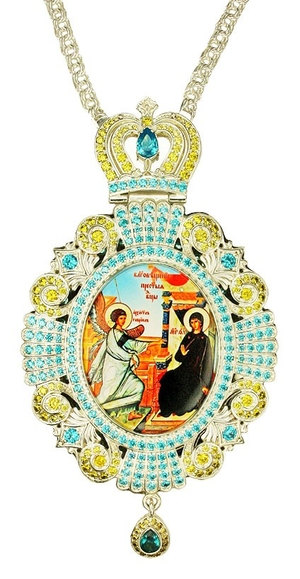 Jewelry Bishop panagia (encolpion) - A528 silver-gilding)