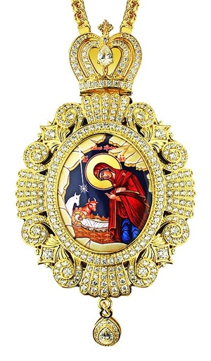 Jewelry Bishop panagia (encolpion) - A528-1 (gold-gilding)