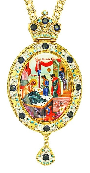 Jewelry Bishop panagia (encolpion) - A650 (gold-gilding)