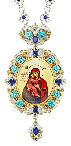 Jewelry Bishop panagia (encolpion) - A653 (gold-gilding)