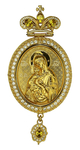 Jewelry Bishop panagia (encolpion) - A657 (gold-gilding)