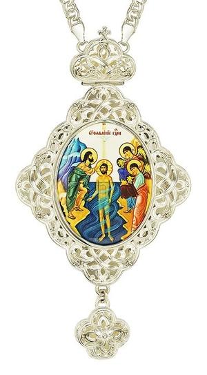 Jewelry Bishop panagia (encolpion) - A670 silver-gilding)