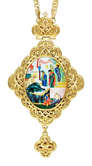 Jewelry Bishop panagia (encolpion) - A670 (gold-gilding)