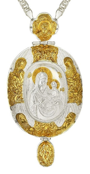 Jewelry Bishop panagia (encolpion) - A690 (gold-gilding)