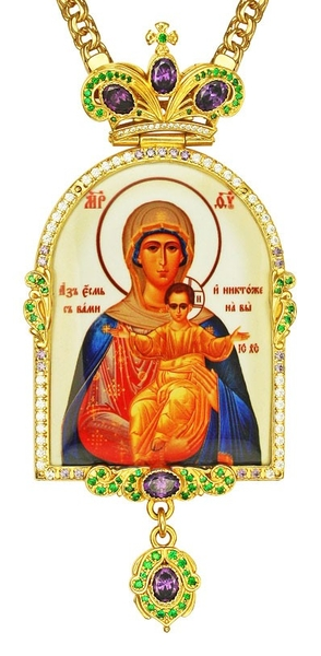 Jewelry Bishop panagia (encolpion) - A691-1a (gold-gilding)