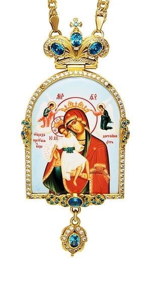 Jewelry Bishop panagia (encolpion) - A691-1b (gold-gilding)
