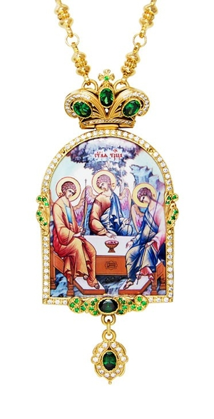 Jewelry Bishop panagia (encolpion) - A691 (gold-gilding)