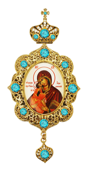 Jewelry Bishop panagia (encolpion) - A702 (gold-gilding)