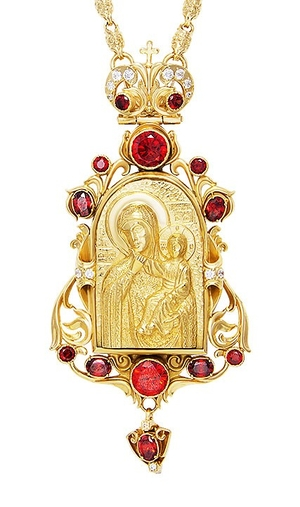 Jewelry Bishop panagia (encolpion) - A767 (gold-gilding)