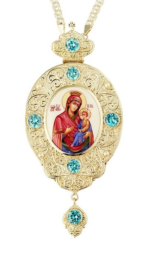 Jewelry Bishop panagia (encolpion) - A874 (silver-gilding)