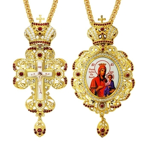 Jewelry Bishop panagia-cross set - A24