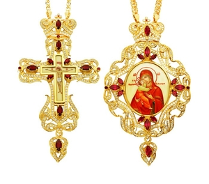 Jewelry Bishop panagia-cross set - A15