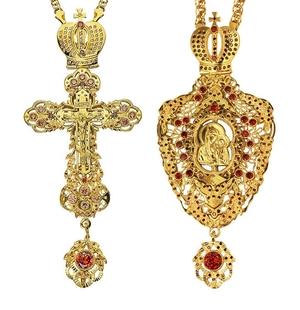 Jewelry Bishop panagia-cross set - A14