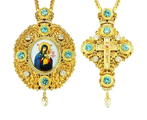 Jewelry Bishop panagia-cross set - A12