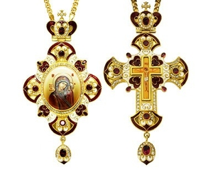 Jewelry Bishop panagia-cross set - A13