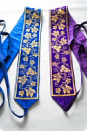 The belts for use over the cassocks