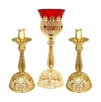 Holy table set (lamp and candlesticks) - A232