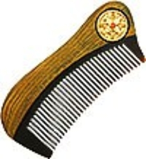 Jewelry horn clergy comb - A184a