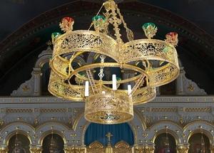 Greek Orthodox horos Flower - 133-2 (16 lights)