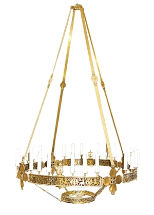 Greek Orthodox horos Flower - 132-3 (32 lights)