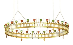 Greek Orthodox horos Birds - 157 (96 lights)