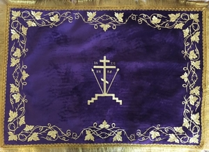 Chalice covers (veils) Violet, with Gold threads embroidery
