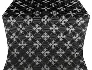 Podolsk silk (rayon brocade) (black/silver)