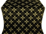 Podolsk silk (rayon brocade) (black/gold)