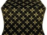 Podolsk silk (rayon brocade) (black/gold)