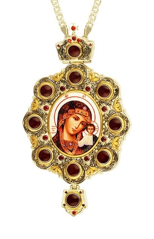 Bishop encolpion (panagia) - A987 (with chain)
