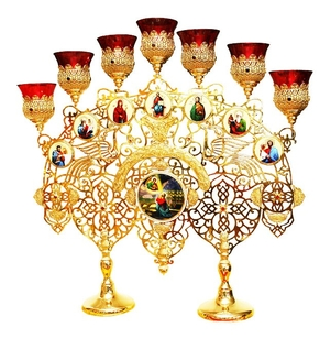 Church table seven-branch candelabrum - A988