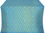 Pavlov Pokrov silk (rayon brocade) (blue/gold)
