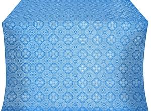 Pavlov Pokrov silk (rayon brocade) (blue/silver)