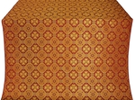 Pavlov Pokrov silk (rayon brocade) (claret/gold)