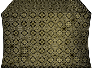 Pavlov Pokrov silk (rayon brocade) (black/gold)