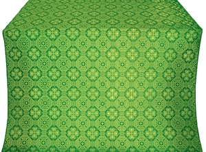 Pavlov Pokrov silk (rayon brocade) (green/gold)