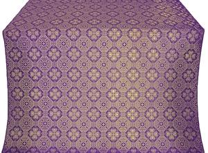 Pavlov Pokrov silk (rayon brocade) (violet/gold)