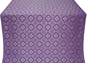 Pavlov Pokrov silk (rayon brocade) (violet/silver)