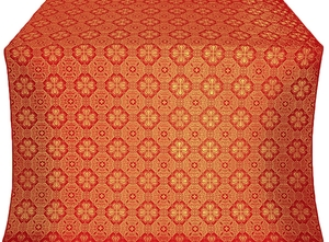 Pavlov Pokrov silk (rayon brocade) (red/gold)