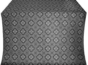 Pavlov Pokrov silk (rayon brocade) (black/silver)