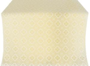 Pavlov Pokrov silk (rayon brocade) (white/gold)